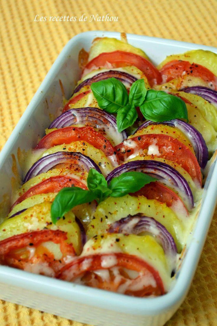 Les recettes de Nathou: Tian de pommes de terre, tomates et oignons rouges à la…