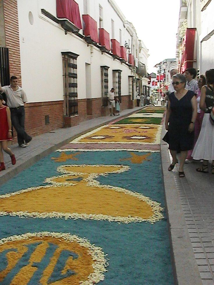 alfombras de flores el d a del corpus christie lebrija