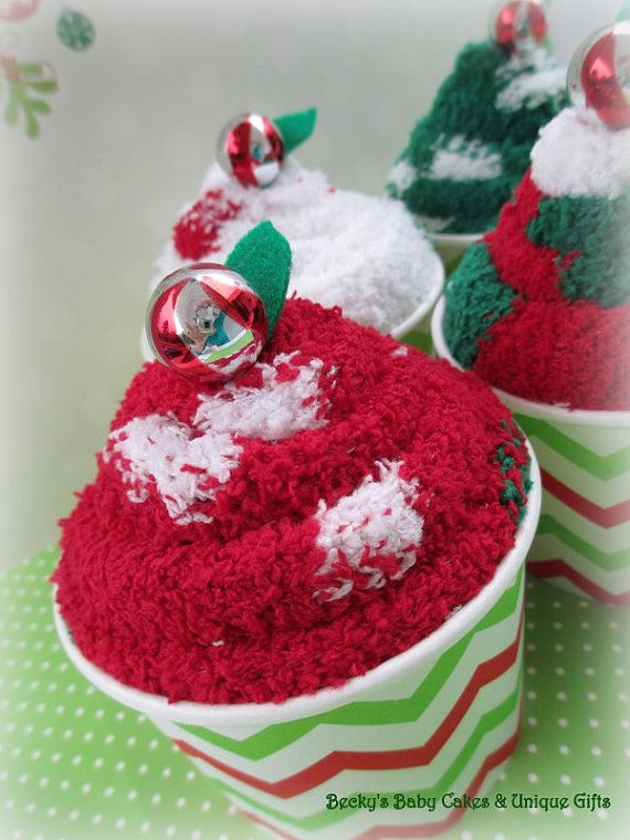 Sock Cupcakes are perfect stocking stuffers, gifts for her or him, teacher gift or even for friends, family and co-workers!  The listing is
