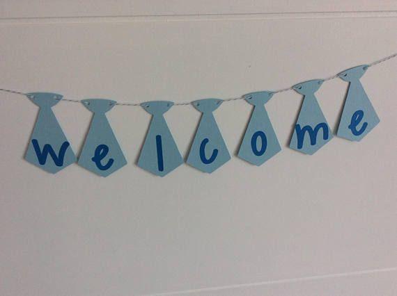 Welcome baby shower sign Welcome baby shower sign blue Baby