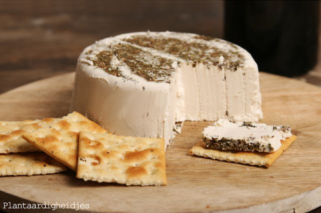 Vegan Cashew Brie Cheese.