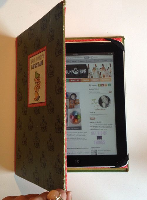 Make your own iPad cover from a Vintage book.