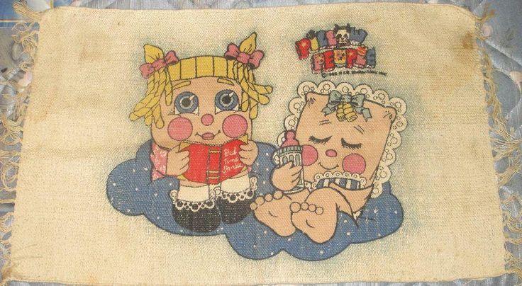 RARE VINTAGE 1986 PILLOW PEOPLE CHARACTER RUG MAT SWEET DREAMS ROCK-A-BYE BABY #PSEMarketing