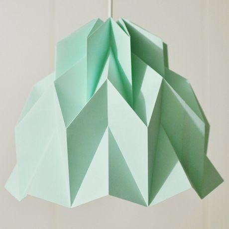 Ruffle Mint   ミント - 折り紙のような陰影がアートなランプシェード by Justina Yang