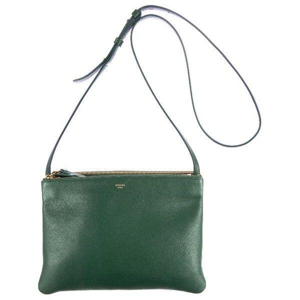 Céline Large Trio Bag found on Polyvore featuring bags, handbags, shoulder bags, white handbags, genuine leather shoulder bag, celine purse, white leather handbags and real leather handbags