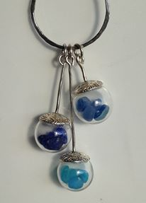 Sterling silver & sea glass ball necklace Available now on Sea & Shore https://www.facebook.com/groups/beachcrafts/