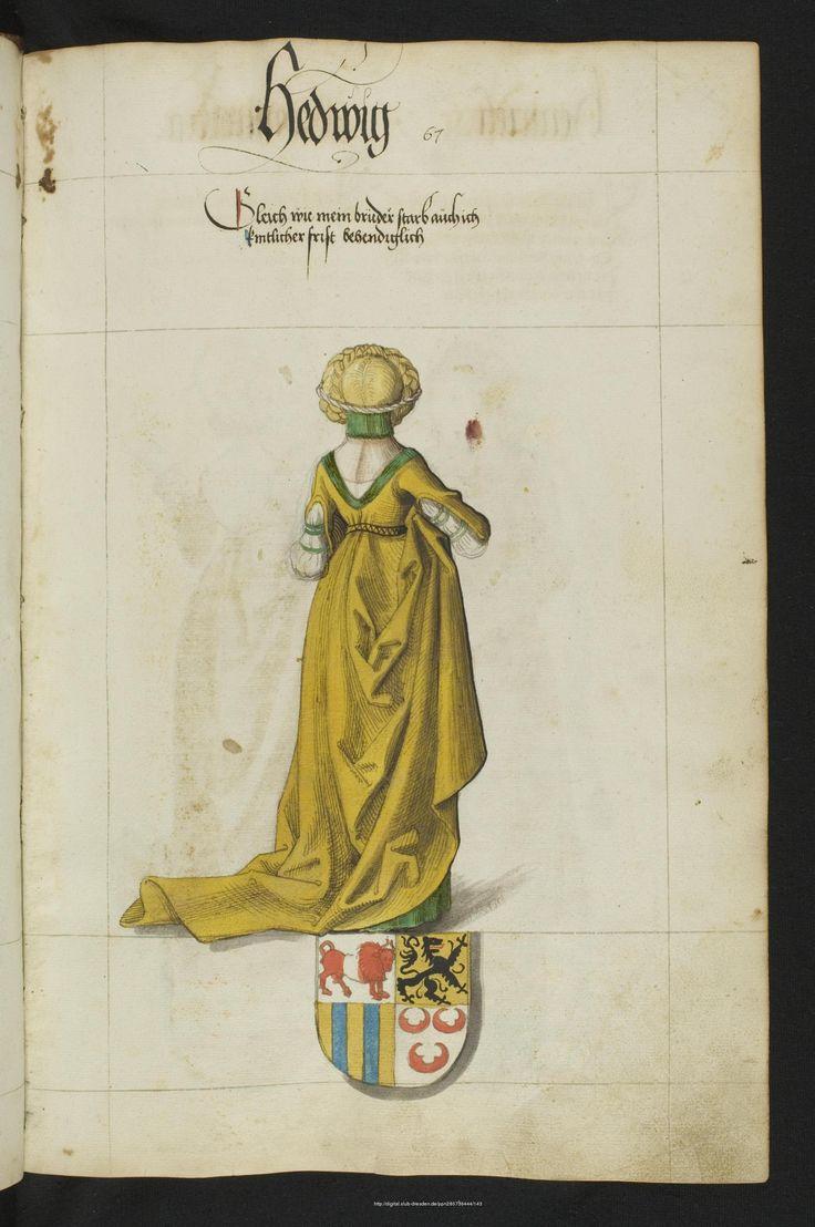 Пряжа Дрезден: Вид на заводе: Саксонский Племенная книга - Mscr.Dresd.R.3 1542