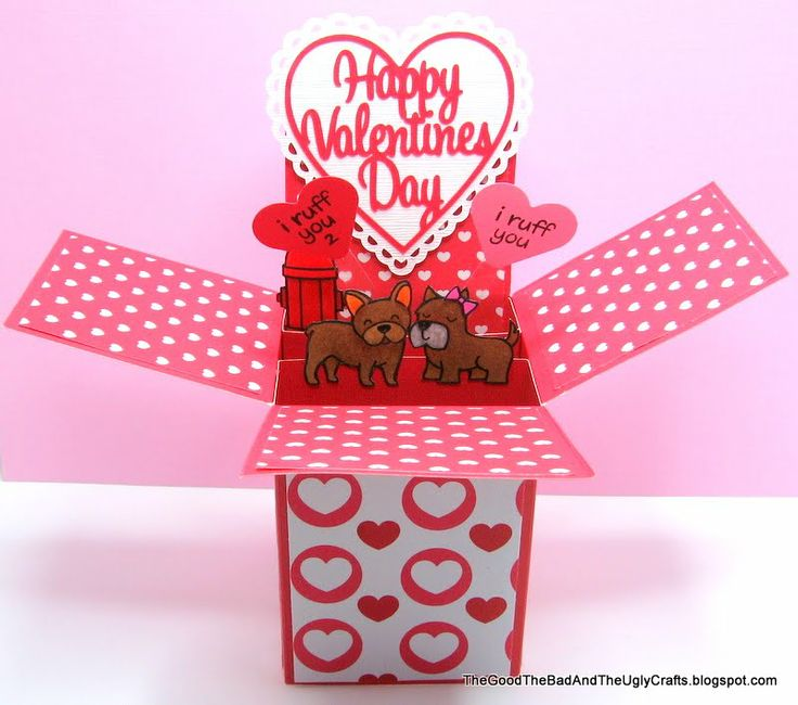 Pop Up Box Valentines Day Card With Lawn Fawns Critters