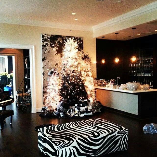 Black and white Christmas tree grouping-Moll Anderson