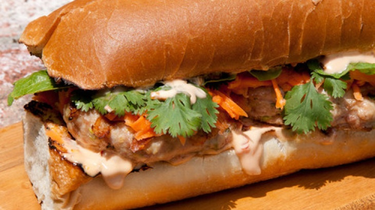 banh mi dog vietnamese caramel salmon banh mi with caramelized onion ...
