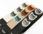 Custom Cat Guitar Strap - You pick the Strap and Cats - We do the REST