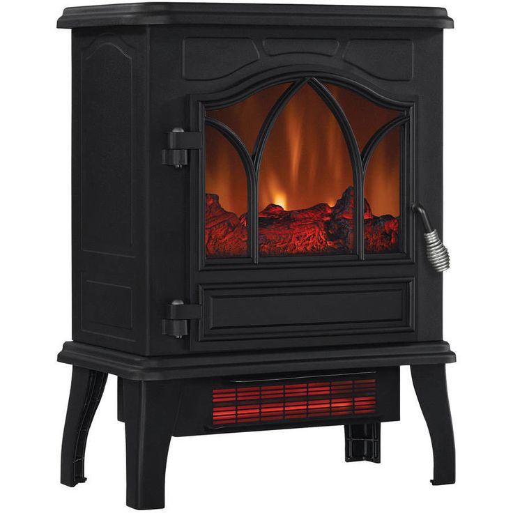 Electric Infrared Quartz Stove Heater 5,200 BTU Black Metal Portable Garage Shed #Generic