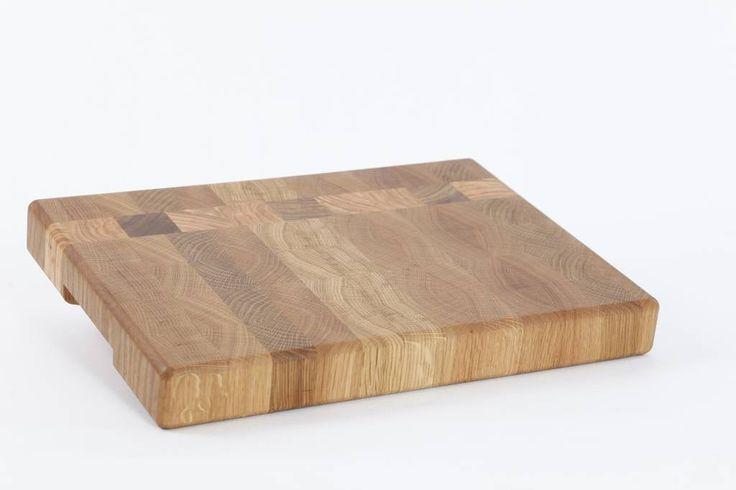 Grote kopshouten snijplank van duurzaam gewonnen Nederlands hout