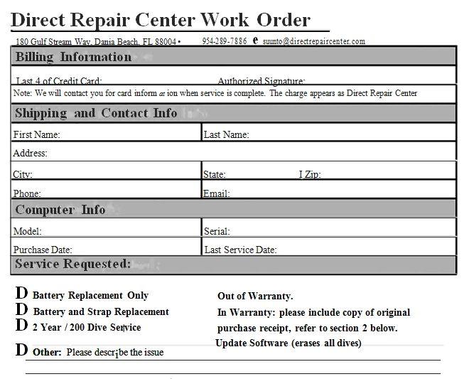 Work Order Template Sample Center Work Templates Business Template