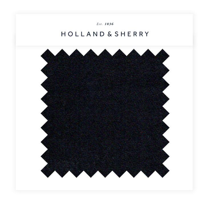 HOLLAND & SHERRY Black Wool Flannel