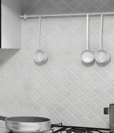 Discount Glass Tile Store   Metro Lantern Series   Glossy White Porcelain  Mosaic Tile   9.75