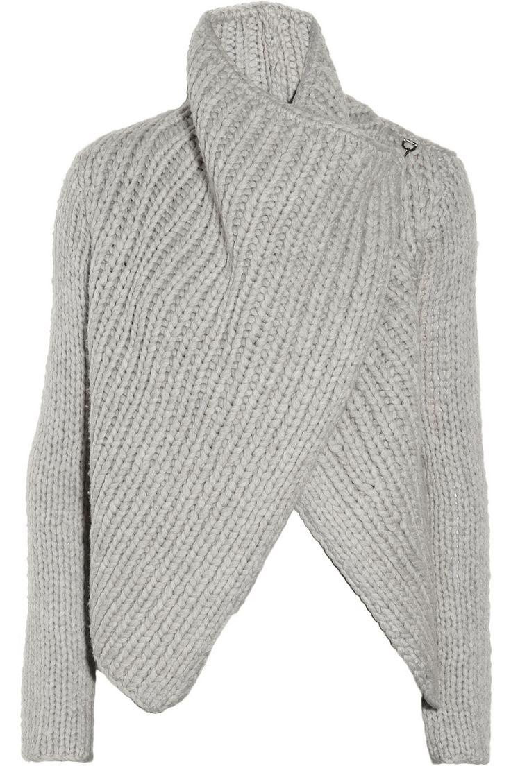 Helmut Lang | Chunky-knit wool-blend cardigan | NET-A-PORTER.COM