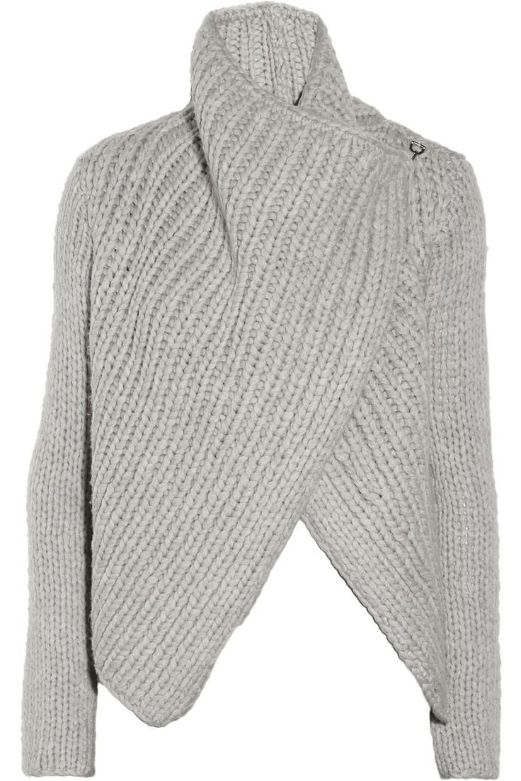 Helmut Lang Chunky-knit wool-blend cardigan NET-A-PORTER.COM