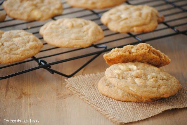 Neus cocinando con Thermomix: Cookies de nueces de macadamia con gotas de chocolate blanco