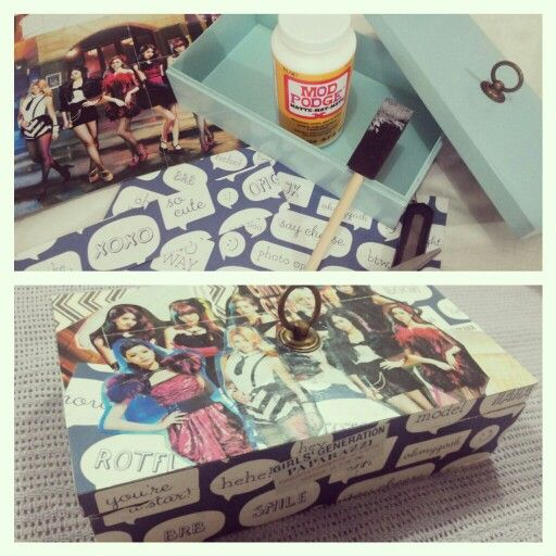 My first trial of decoupage. Not bad..:)