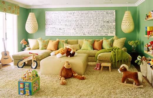 kid-friendly room: Wall Colors, Idea, Living Rooms, Kids Playrooms, Couch, Kids Spaces, Plays Rooms, Families Rooms, Kids Rooms