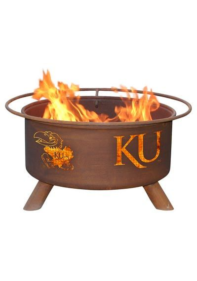 Kansas jayhawks fire pit buy me this pinterest fire for Buy outdoor fire pit
