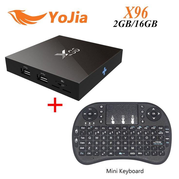 [Asli] X96 S905X Amlogic Quad Core Android 6.0 TV Box 4 K 2 GB 16 GB 2.4G Wifi HDMI 2.0A KODI TV Smart Media Player Miracast