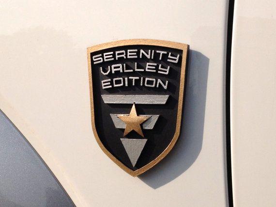 Serenity Valley Edition Custom Car Emblem by Empira on Etsy