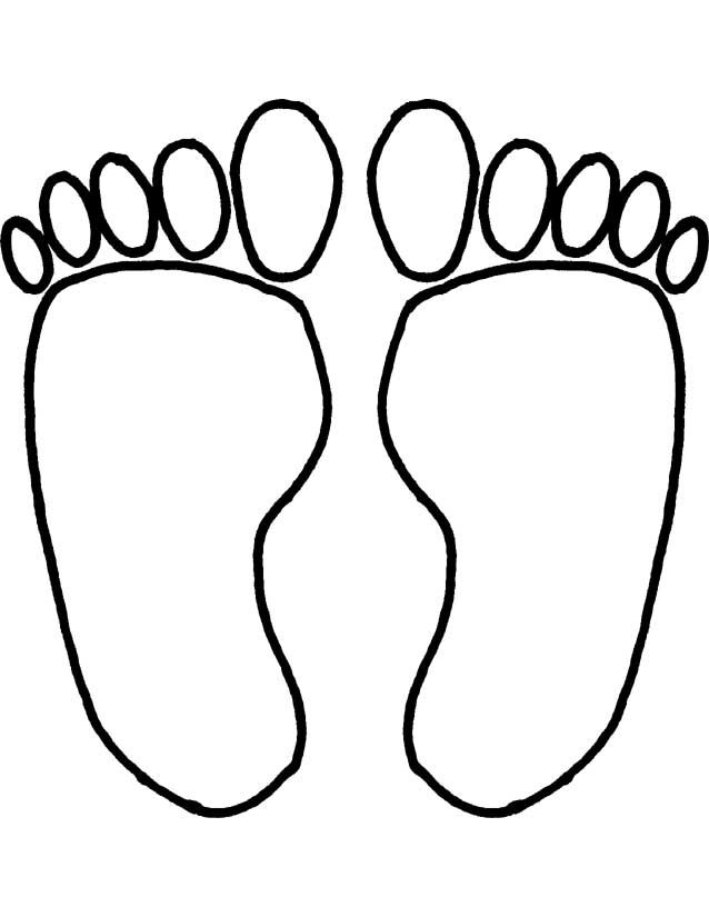 Feet Footprints Coloring Pages Printable, can be used for
