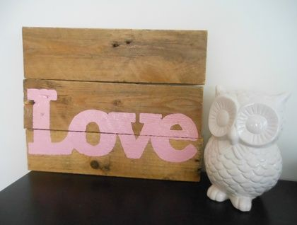 Upcycled Wooden Pallet Love Sign