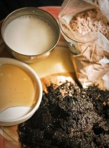 mocha-frappuccino face mask: coffee, cocoa, and honey facial mask. So my thing!! :)