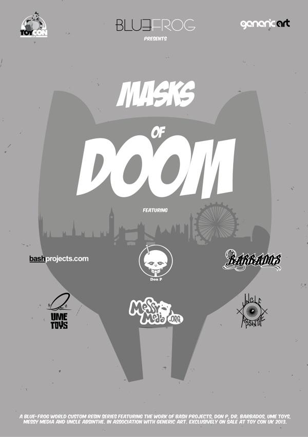 Masks of DOOM by Gary Boon, via Behance