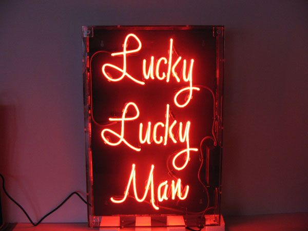 """""""Lucky Lucky Man' neon by Neon Creations"""