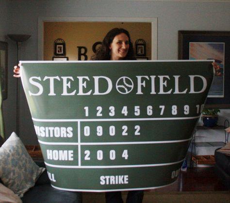 """60"""" x 40"""" Personalized Baseball Scoreboard Poster"""