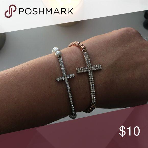 Two sideways cross bracelets Two sideways cross bracelets H&M Jewelry Bracelets