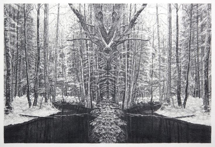 Becc Orszag - Immaculate Landscape I - graphite pencil on paper 32x21cm, 2015