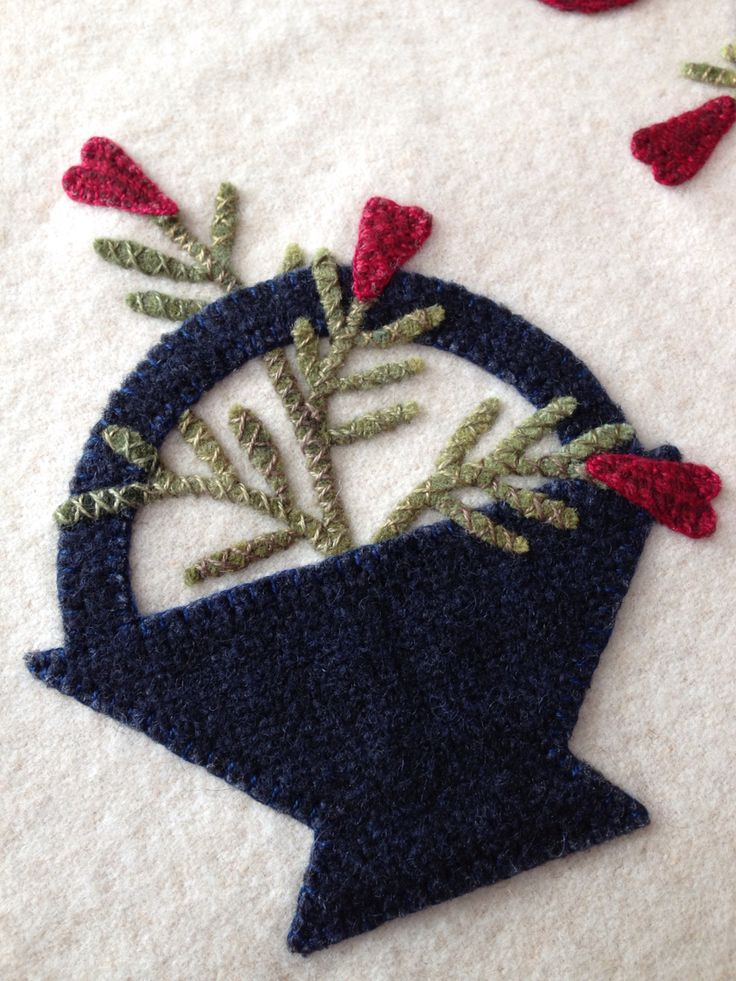 American Baskets by Mary Ann Thom Wool Appliqué
