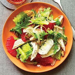 Easy Rotisserie Chicken Recipes  | Green Salad with Chicken and Pink Grapefruit | MyRecipes.com