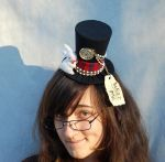 Check out this hat and all of our hats FOR SALE at our Etsy Shop: Pleeeeeease check out our Etsy for more pictures of this hat This Alice In Wonderland Tiny Top Hat was made By me and my crew. All ...