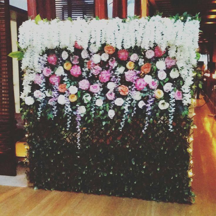 Belinda's 21st Birthday Flower Wall at Zeta Bar Hilton Sydney