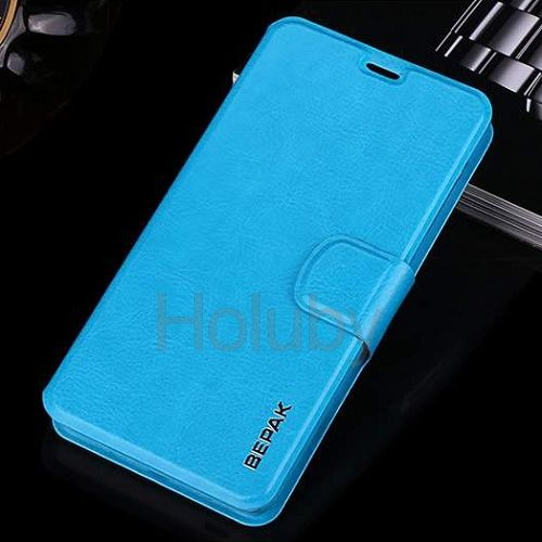 Bepak Win Series Magnetic Stand PC+ PU Leather Case for Xiaomi Redmi 2 Blue