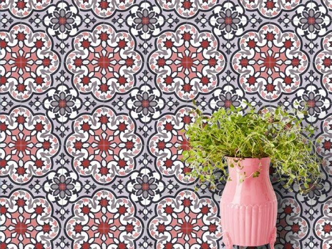 Obklady ze série Elisée, 20 x 20 nebo 17 x 17 cm, Marrakesh Cement Tiles, cena od 2 364 Kč/m2, www.vinciproject.cz