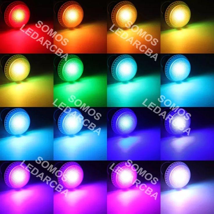 lampara led rgb 3w e27 220 control remoto 16 colores calidad