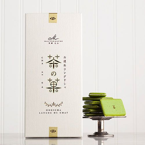 Cha No Ka Created through the collaboration of an expert in tea leaf production, a tea appraiser and a master patissier, Cha No Ka cookies are tender green tea biscuits sandwiching white chocolate. Each individually wrapped biscuit is made with special Okoicha strong matcha green tea from carefully selected tea leaves grown in Uji-Shirakawa, JAPAN. Best enjoyed with coffee, tea and Champagne. Sold exclusively at Dean and Deluca. $28.00