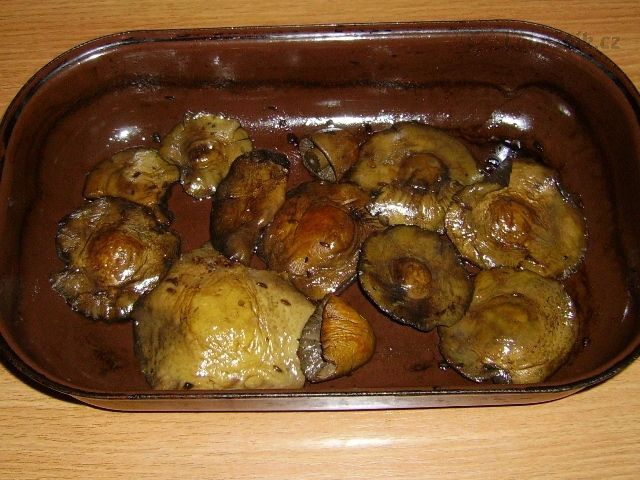 Houby pečené v česnekovém másle.......... http://www.labuznik.cz/recept/houby-pecene-v-cesnekovem-masle