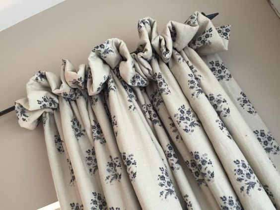 cottage style curtain headings - Google Search