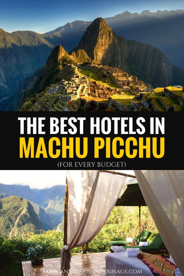 The best hotels in Machu Picchu, Peru. A detailed list of the best accomodations and hotels in Aguas Calientes. 5 star luxury hotel or budget or hostel, find your perfect hotel near Machu Picchu, the famous Inca ruins in Peru.