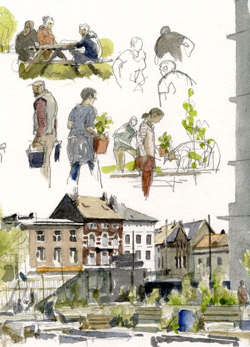 Le jardin partagé près du Wiels. Bruxelles, 28 avril 2013