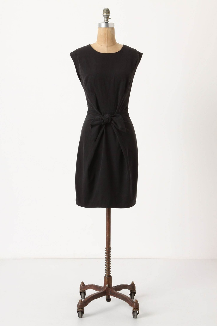 versatile black shift dress for work or a classy night out