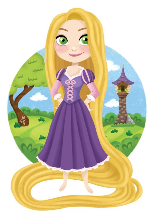 disney fanart on tumblr - Rapunzel and tower (unknown artist).  [For more Disney news, tips, secrets, facts, pics and more, please visit my Disney blog:  http://grown-up-disney-kid.tumblr.com/ ]